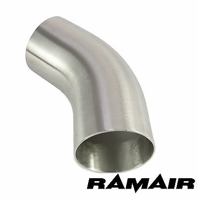 "3"" Inch 76mm 45 Degree Mandrel Exhaust Bend 316 Stainless Steel Tight Radius"