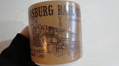 Strasburg Railroad PA. Short Line Railroadiana Vtg Federal Milk Glass Coffee Mug
