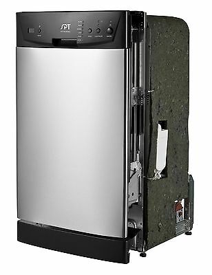 SPT SD 9252SS Energy Star 18 Inch Built In Dishwasher Stainless Steel  Sunpentown