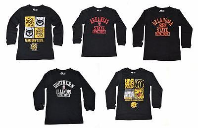 NWT RUSSELL NCAA Arkansas, Oklahoma, Kennesaw, Southern illinois SMLXL Youth Tee
