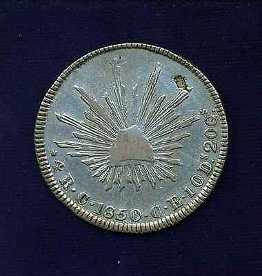MEXICO CULIACAN 1850-C-Ce  4 REALES SILVER COIN, VF/XF