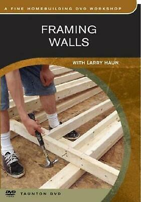 Framing Walls by Larry Haun (English) DVD Book Free Shipping!