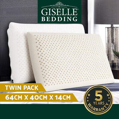 Giselle Bedding 100% Natural Latex Pillows Bed Sleeping Contour Support Cover