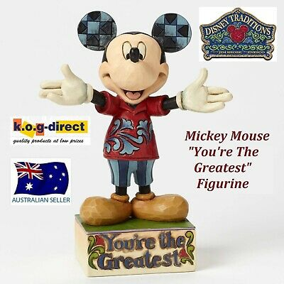 Disney Traditions Jim Shore Dad Mickey Mouse You're The Greatest Figurine New
