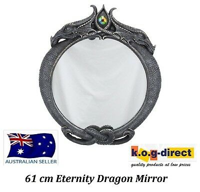 Black Eternity Dragon Mirror New In Box 61 Cm - Dragmirr