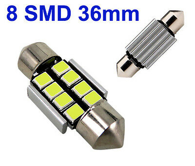 2x Sofitte Soffitte 8 SMD 3528 LED 36MM Weiss CANBUS Innenraum Lampe 12V DC