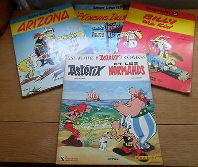 Lot of 3 Lucky Luke comic books + Asterix  in French en francais 1969 / 1972