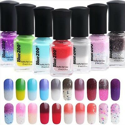 6 ML 20 Colores Temperatura Esmalte Gel de uñas Cambio UV Manicura Pedicura Nail