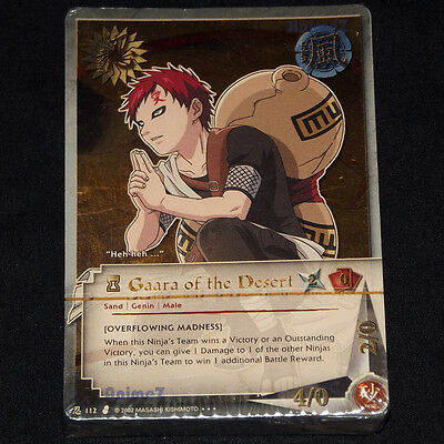 Naruto Collectible Trading Card Game - Gaara Foil #112 starter deck TCG sealed