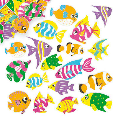 Tropical Fish Foam Stickers for Kid's Collage & Card Making Crafts (Pack of 100)