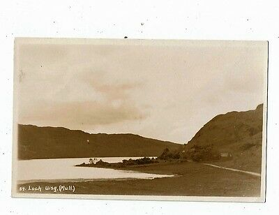 Post Card Real Photo Loch Uisg. (Mull)