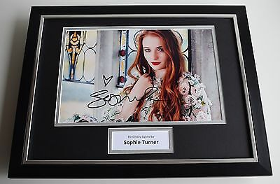 Sophie Turner SIGNED FRAMED Photo Autograph 16x12 display TV Game of Thrones COA