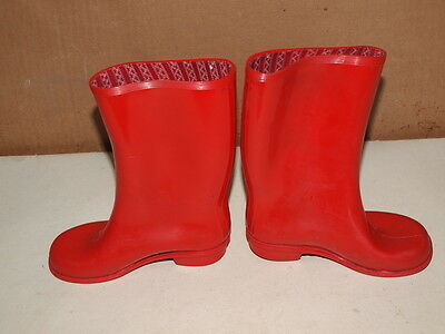 Vintage 1960's / 70's Children Red Rainger Wellingtons Size 9  Made In England