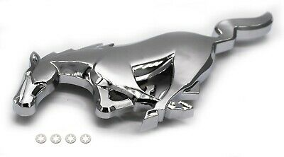 Front Bumper Grille Emblem Chrome Horse Pony Replaces 5R3Z8A224AA Fits Mustang