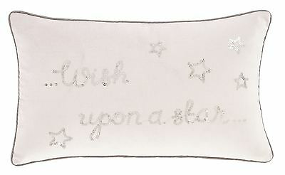 Wish Upon A Star Sequins Pink Silver Grey Boudoir Filled Cushion 30Cm X 50Cm