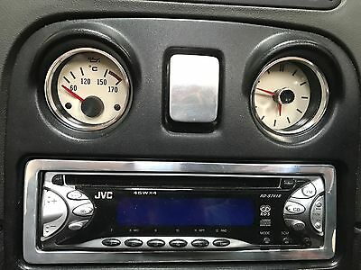 MG MGF ALUMINIUM METAL OIL & CLOCK Rings Trim Gauge Dial SURROUNDS