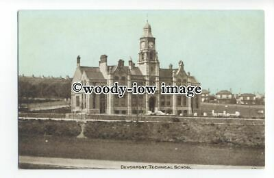 tq1417 - Early View of the Technical School/College, in Devonport - Postcard