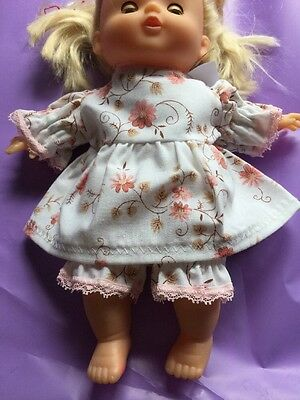 Dolls Dress And Knickers Set. 10 Inch Doll. Wider Fit.