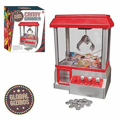 Candy Grabber Claw Machine Arcade Game Fairground Joystick Tokens Sweets Prizes