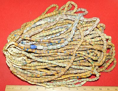 Bundle of (50) Strands of Sandcast Trade Beads #6....Buy It Now