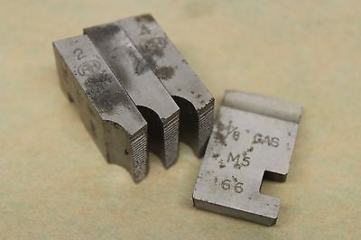 "Alfred Herbert 1/8"" x 28 Tpi BSP Coventry Die Chasers For 3/4"" Head CD294"