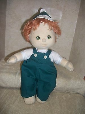 "-""my Child Doll""- Boy-Clothes- Ducky-Overalls--Handmade--New"