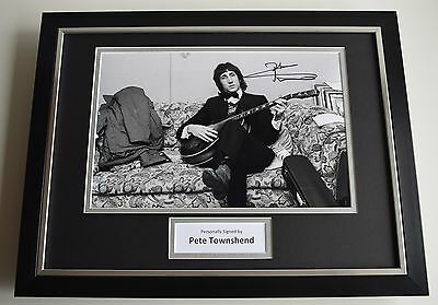 Pete Townshend SIGNED FRAMED Photo Autograph 16x12 display Who Music AFTAL COA