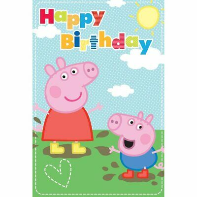 Peppa George Pig Large 1st Birthday 1 Today Card 243222 1 99