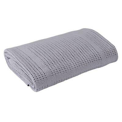 Clair de Lune Super Soft Cellular Blanket for Prams & Cribs (Grey)