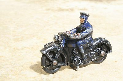 DINKY 37b POLICE MOTORCYCLIST good condition 1940s