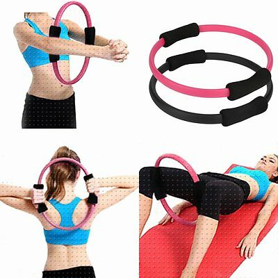 Pilates Ring Magic Circle Dual Grip Sporting Goods Yoga Ring Exercise Fitness HT