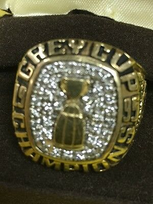 1995 CFL Baltimore Stallions Grey Cup Championship Ring 10K Gold Louis Fite