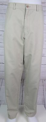 Vtg Flat Front Tapered Beige Puritan chino Trousers Urban Geek W32 L31 DL88