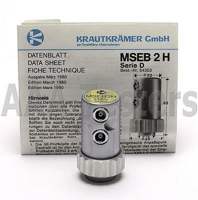 KrautKramer MSEB2H 2 MHz Ultrasonic Dual Element Straight Beam Transducer Probe