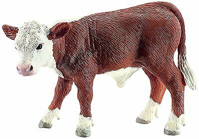 Schleich 13765 Hereford Calf Model Toy Cattle Cow Figurine New with tag in bag