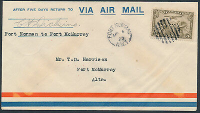 1929 AAMC #2917f, Fort Norman to Fort McMurray Flight, Pilot Signed