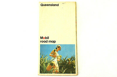 Vintage Mobil Gas Map of Queensland, Australia by Ruskin Press