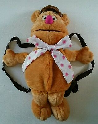 Disney The Muppets Fozzie Bear Soft Plush Toy Backpack Bag