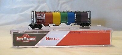 InterMountain N Scale Canadian National Rainbow Covered Hopper No. 370703