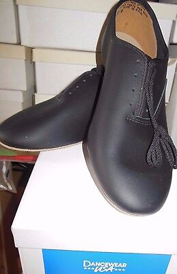 New/Box BLack Leather Dancwear USA Jazz Shoes suede full sole Mens sizes only