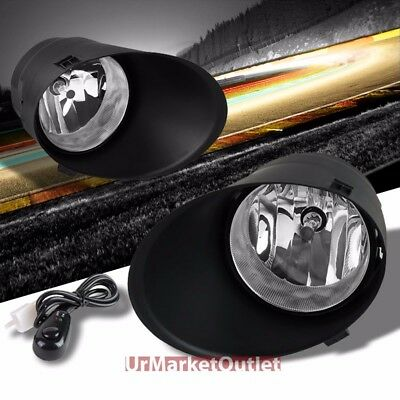 Clear Lens OE Front Bumper Fog Light Lamp+Bezel+Bulb+Switch For 07-13 Tundra