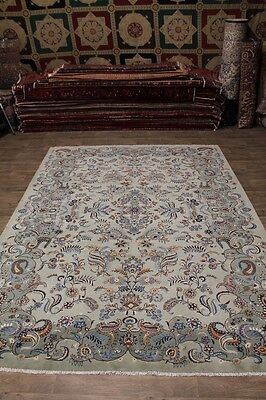 aSplendid Hand Knotted Semi Antique Kashan Persian Rug Oriental Area Carpet 10X1