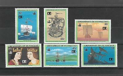 Grenadines St.vincent 1992 #855/60 Set Vf Nh, Discovery Of America !!