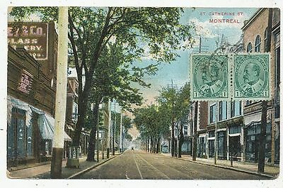 CPA POST CARD CANADA MONTREAL St-CATHERINE STREET 1908