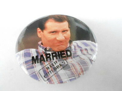 #08038 Pinback Button Barcode Tattoo Taxpayer Married
