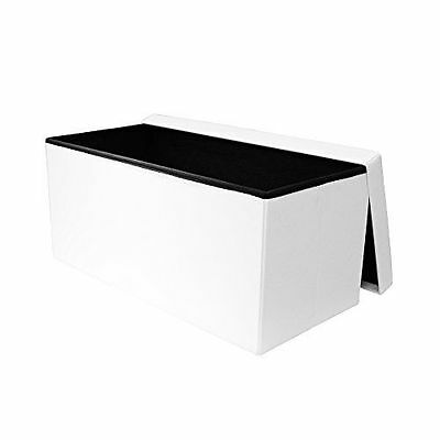 THE HOME DECO FACTORY - Coffre Banc [HD3406] [Blanc] [76x37.5x37.5 cm] NEUF