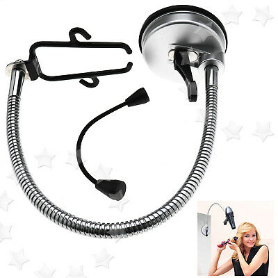 360 Degree Hands Free Bathroom Blow Hair Dryer Holder Stand With Suction Cup