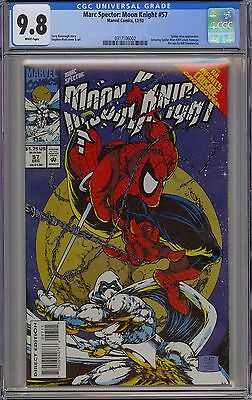 Marc Spector: Moon Knight #57 CGC 9.8 NM/MT Wp Platt Art Marvel 1993 Spider-Man