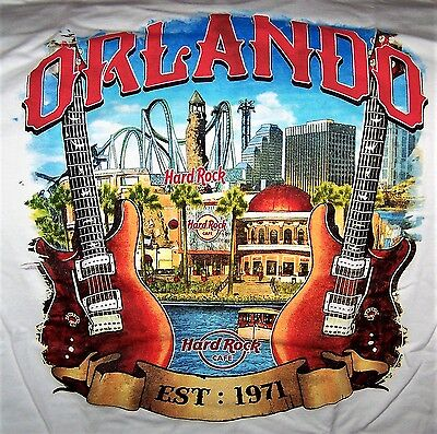 Hard Rock Cafe Orlando City Tee T-Shirt Size Adult Xx-Large - New With Tags
