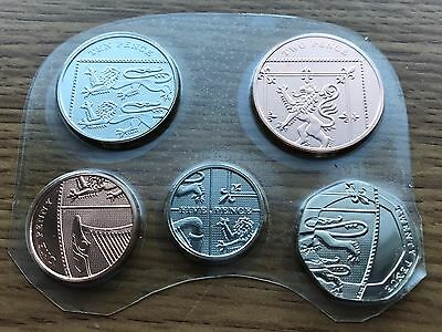 2009 Full Set of BU Small Coins - 1p 2p 5p, 10p & 20p UNC Uncirculated Year